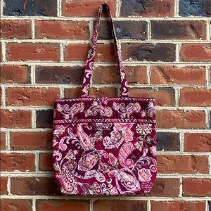 Vera Bradley paisley tote w/ small wallet storage